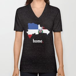 Dominican Republic Proud Unisex V-Neck