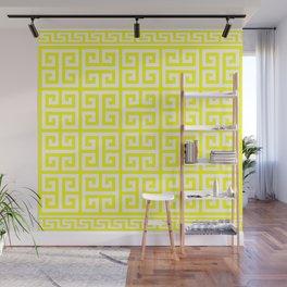 Greek Key (Yellow & White Pattern) Wall Mural
