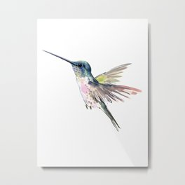 Flying Little Hummingbird Metal Print