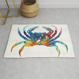 Colorful Crab Art by Sharon Cummings Rug