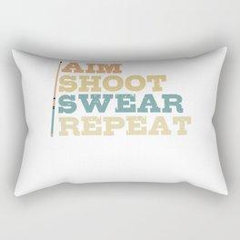 Aim Shoot Swear Repeat Vintage Pool Billiard Stick Rectangular Pillow