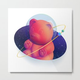 Intergalactic Gummy Bear Metal Print