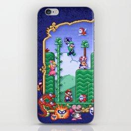 Mario Super Bros, Too iPhone Skin