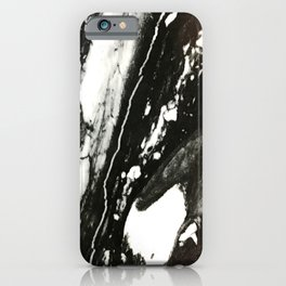 Black and White Harlequin-Style Marble iPhone Case