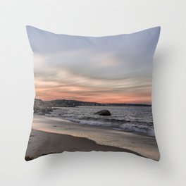 Sunset Sky at Old Garden Beach Throw Pillow