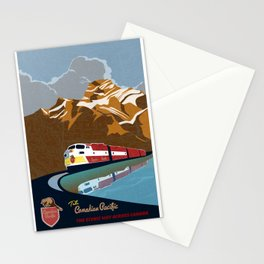 vintage CP rail poster Stationery Cards