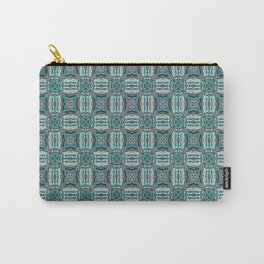 Turquoise Weave Pattern Carry-All Pouch