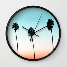 Sunset Boulevard #society6 #decor #buyart Wall Clock