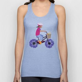 Summer Bike Ride Unisex Tank Top