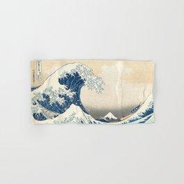 The Great Wave off Kanagawa by Katsushika Hokusai from the series Thirty-six Views of Mount Fuji Art Hand & Bath Towel