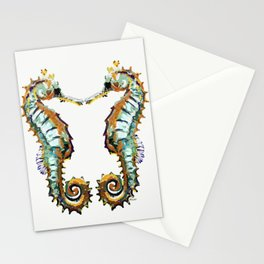 Seahorses - colorful sea love Stationery Cards