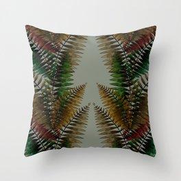 Looking up between Ferns Throw Pillow