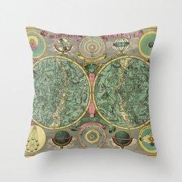 Vintage Astronomy Chart 1772 Throw Pillow