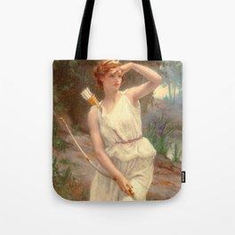 Guillamume Seignac Diana The Huntress 1870 Roman Mythology Goddess Of The Hunt Moon And Nature Tote Bag
