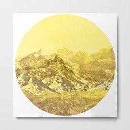 Mountains Yellow Metal Print