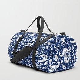 Under The Sea Navy Blue Duffle Bag