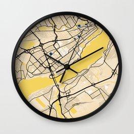 Levis Yellow City Map Wall Clock