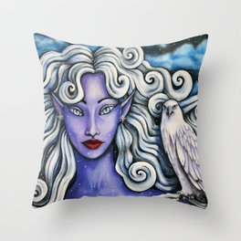 Winter Faerie Throw Pillow