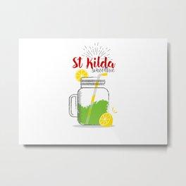 St Kilda: Summer, sun, sea & smoothies Metal Print