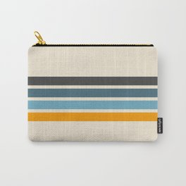 Vintage Retro Stripes Carry-All Pouch