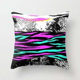 Animal Print In Bright Colors III Throw Pillow