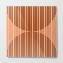 Abstraction Shapes 17 in Terracotta Shades (Moon Phase Abstract)  Metal Print