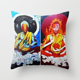 ELEMENTAL BUDDHAS Throw Pillow
