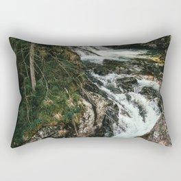 Waterfall In The Mountains - Wild River Cascade Rectangular Pillow