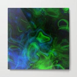 Funky Neon Green Metal Print