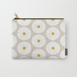 Minimal Botanical Pattern - Daisies Carry-All Pouch