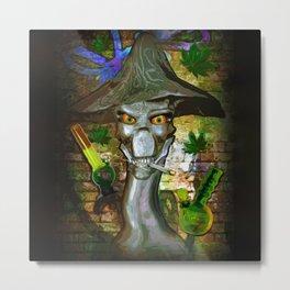 Mikey's Mushroom Skull Metal Print
