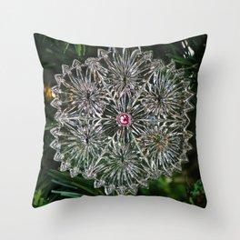 Snowcrystal Ornament 2016- vertical Throw Pillow