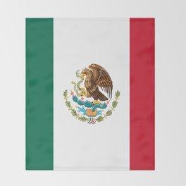 mexican sports fan mexico flag Throw Blanket