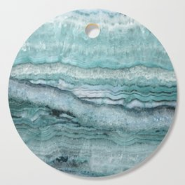 Mystic Stone Aqua Teal Cutting Board