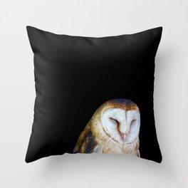 The Barn Owl Throw Pillow