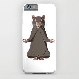 Meditate Rat  iPhone Case