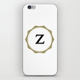 Vintage Letter Z Monogram iPhone Skin