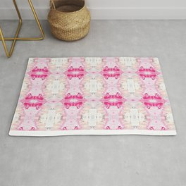 Minty Rose (Abstract Painting) Rug