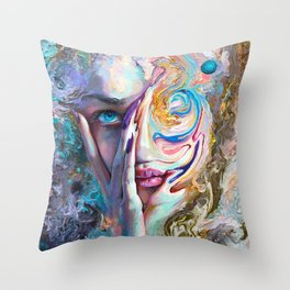 Swirling Sensation Throw Pillow