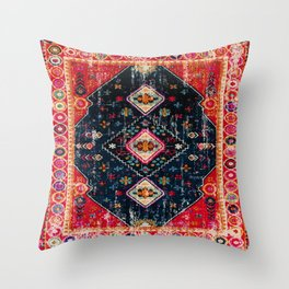 Heritage Oriental Berber Traditional Moroccan Style Blue & Red Design Throw Pillow