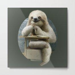 sloth in classroom Metal Print