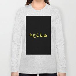 hello 9- yellow and black Long Sleeve T-shirt