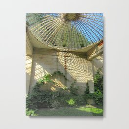 Nature Reclaiming Old Structure Metal Print