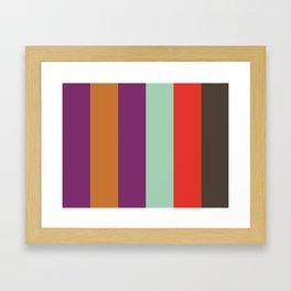 POP ART : P(urple) O(chre) P(urple) A(quamarine) R(ed) T(aupe) Framed Art Print
