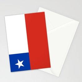flag of Chile- -Spanish,Chile,chilean,chileno,chilena,Santiago,Valparaiso,Andes,Neruda. Stationery Cards
