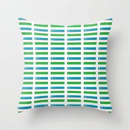 Flag of Uzbekistan-Uzbekistan,Uzbek,O'zbekiston, o'zbek Throw Pillow