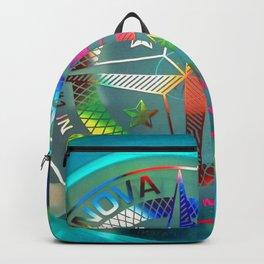 Disc Golf Boss Frisbee Blue Crystal Rainbow First Run Proto Backpack