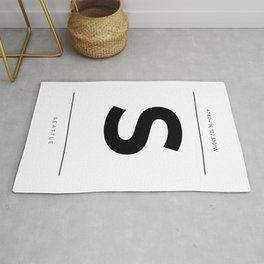 Seattle Initial and Coordinates Rug