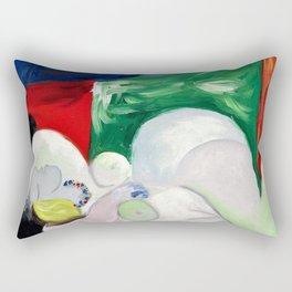 Pablo Picasso - Naked woman lying on the necklace - Digital Remastered Edition Rectangular Pillow
