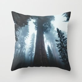 General Sherman in the Mist Throw Pillow